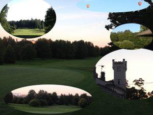 Iltakävelyllä Talin golf-kentällä.