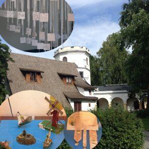 Elämän harjulla -näyttely Juseliuksen mausoleumista Gallen-Kallelan Museossa.