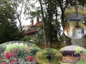 Ainolan puutarha, kellari ja sauna.