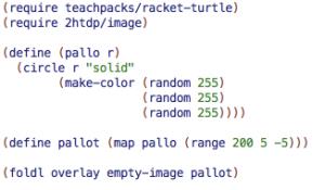 Tehtävässä muokattava Racket-koodi