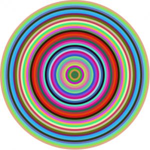 Racketilla koodattuja ympyröitä.
