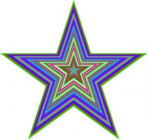 Racketilla koodattuja tähtiä.