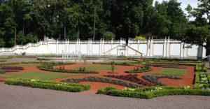 Kadriorgin palatsin takapihan puutarhaa.